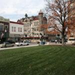 Couthouse square, Sedalia, Missouri.